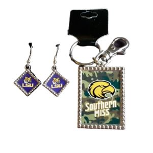 Official Collegiate Jewelry LSU & Southern Miss